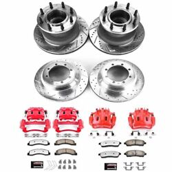 Kc2868a-36 Powerstop Brake Disc And Caliper Kits 4-wheel Set Front And Rear