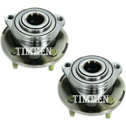 Set-tmha590069 Timken Wheel Hubs Set Of 2 Front Driver And Passenger Side New Pair