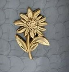 Brass Sunflower Applique For Funeral Round Cremation Urn Pewter Also Available