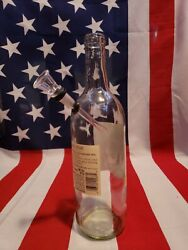 14 Inch Wine Bottle Water Pipe Bong Glass Slide Bowl Hand Crafted 10mm 2pcs