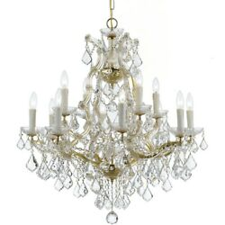 Crystorama Maria Theresa 13 Lt Clear Crystal Gold Chandelier I - 4412-gd-cl-mwp