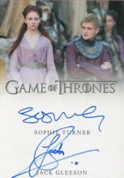 Game Of Thrones Inflexions Dual Autograph Card Turner And Gleeson