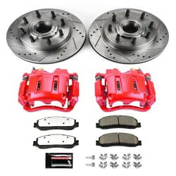 Kc6550-36 Powerstop Brake Disc And Caliper Kits 2-wheel Set Front For F250 Truck