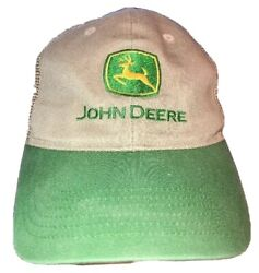 John Deere JD Mesh Embroidered Trucker Hat MPC Snapback Tri County Equipment vtg $19.99