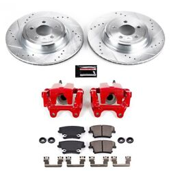 Kc5486 Powerstop 2-wheel Set Brake Disc And Caliper Kits Rear For Dodge Charger