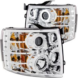 111086 Anzo Headlight Lamp Driver And Passenger Side New For Chevy Lh Rh Chevrolet
