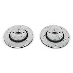 Ar83078xpr Powerstop 2-wheel Set Brake Discs Front Driver And Passenger Side New
