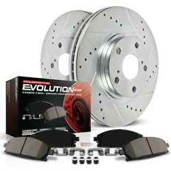 K369 Powerstop 2-wheel Set Brake Disc And Pad Kits Rear New For Vw Jetta Passat