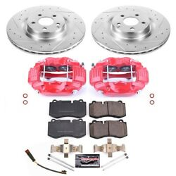 Kc6755 Powerstop Brake Disc And Caliper Kits 2-wheel Set Front New For Mercedes