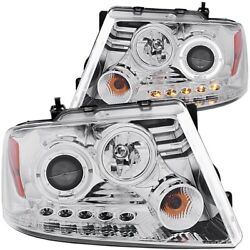 111029 Anzo Headlight Lamp Driver And Passenger Side New For F150 Truck Lh Rh Ford