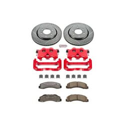 Kc3167a-36 Powerstop 2-wheel Set Brake Disc And Caliper Kits Front For F-150