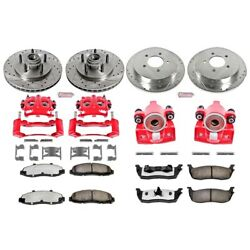 Kc1919-36 Powerstop Brake Disc And Caliper Kits 4-wheel Set Front And Rear