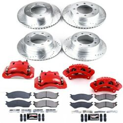 Kc5468 Powerstop Brake Disc And Caliper Kits 4-wheel Set Front And Rear For Dodge