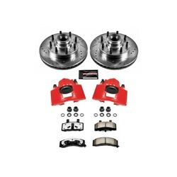 Kc2947-36 Powerstop Brake Disc And Caliper Kits 2-wheel Set Front For Chevy