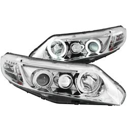 121061 Anzo Headlight Lamp Driver And Passenger Side New Coupe Lh Rh For Civic