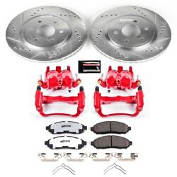 Kc142-36 Powerstop 2-wheel Set Brake Disc And Caliper Kits Front For Pathfinder