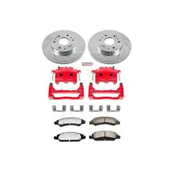Kc2069-36 Powerstop Brake Disc And Caliper Kits 2-wheel Set Front For Chevy