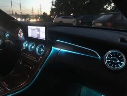 3 / 12 / 64 Colors Passenger Seat Dashboard Ambient Light For Mercedes W205 Glc