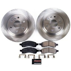 Koe4657 Powerstop 2-wheel Set Brake Disc And Pad Kits Front New For Chevy Acadia