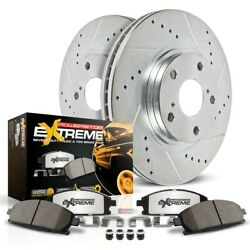 K2020-36 Powerstop Brake Disc And Pad Kits 2-wheel Set Front New For Chevy Yukon