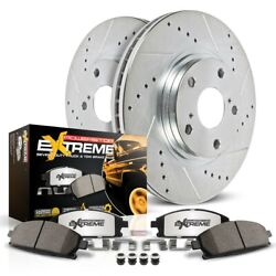 K5951-36 Powerstop 2-wheel Set Brake Disc And Pad Kits Front New For Jeep Dodge