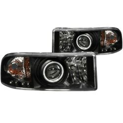 111065 Anzo Headlight Lamp Driver And Passenger Side New For Ram Truck Lh Rh 1500