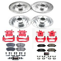 Kc6109 Powerstop 4-wheel Set Brake Disc And Caliper Kits Front And Rear New
