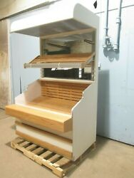 Heavy Duty Commercial Wooden Lighted Open Vertical Bakery/produce Display Case