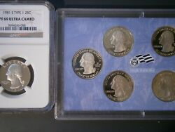 1981 S Type 1 Quarter Ngc Pf69 Uc And 2009 Terr. Proof Set See Photos 7 Coins