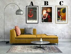 Vintage French Wine Advertising Art Print Poster Set. Choice Of 3 Prints