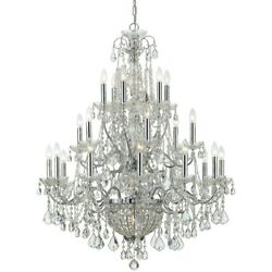 Crystorama Imperial 26 Light Crystal Chrome Chandelier - 3229-ch-cl-mwp