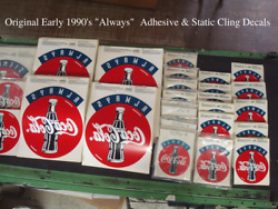 Coca-cola 650 Decals Rare 1990and039s Always Authentic Decals/signs 8.75x 11.5