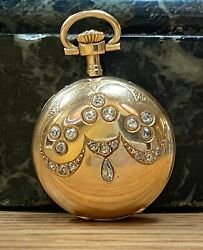 Gorgeous Vintage Yellow Gold Pocket Watch--sold As Is