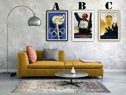 Vintage Olympic Games Advertising Art Print Poster Set. Choice Of 3 Prints