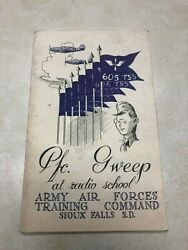 Ww2 Us Army Air Force Training Command Pfc Sweep At Radio School Sioux Falls, Sd