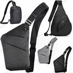 Men Women Sling Bag Shoulder Chest Bag Crossbody bag Cycle Pack Satchel Backpack $13.29
