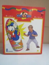 Vtg Intex Donald Duck Inflatable Bop Punch Blow Up Bag 48 Full Size Pink