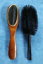 Vintage Stanley Clothes Brush Lint Curved Bakelight Wooden Shoehorn Taiwan ROC