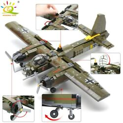 559pcs Military Ju-88 Bombing Plane Building Block Ww2 Helicopter