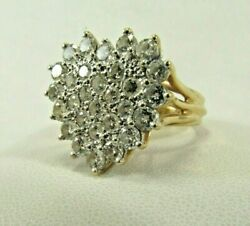 14k Solid Gold 2.6ct. Diamond Dinner Ring Quality Size 6.5 Save 2000. R652