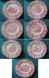 Historical Plates 1932 Red Transfer George Washington Crown Ducal England Pick1