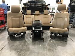 2011-2016 Ford F250 F350 Superduty Tan Leather Seats Front/rear W/console Lariat