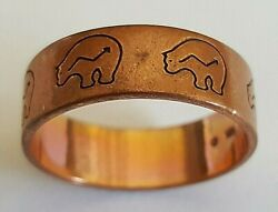 Hand Crafted Copper Ringnative American Bear Symbolshealing Effects Of Copper