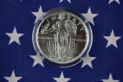 Gsm Standing Liberty Uncirculated 1oz Troy .999 Solid Silver Coin Round Usa