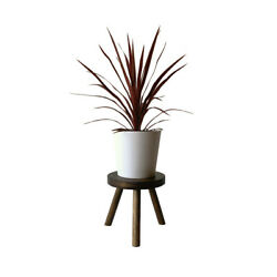 Modern Plant Stand Three Leg Stool By Cw Furniture Wood Indoor Flower Pot Base