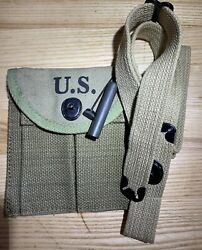 Wwii M1 Carbine Rifle Accessories Sling Oiler And Butt Stock Ammo Pouch Boyt 43