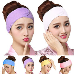 Women's Adjustable Make Up Hair Bands Wrap Headband Salon SPA Sports Hairband