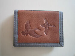 Genuine John Weitz Leather Panel Collection - Tri-fold Wallet NylonLeather $13.99