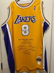 Mitchell And Ness Signed Kobe Bryant 8 Limited Edition Men's Jersey La Lakers