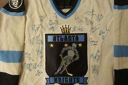 Atlanta Knights Jersey Autographed Bauer Ihl Nhl Flames Thrashers
